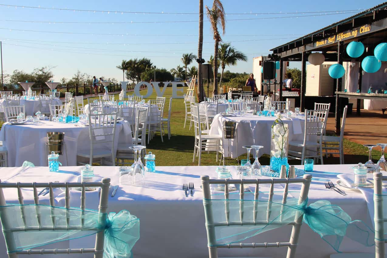 Wedding Reception Setup at the BSLSC